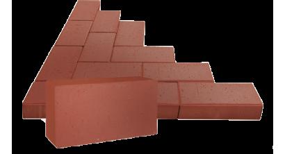 Брусчатка тротуарная клинкерная ЛСР Эдинбург темно-красная, 200*100*50 мм, фото номер 1