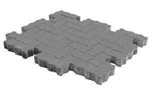 Тротуарная плитка BRAER Волна серый, 240*135*60 мм, фото номер 1