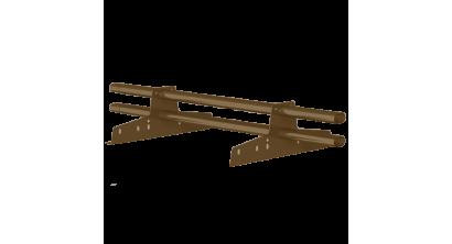 Комплект трубчатого снегозадержания BORGE 1 м для металлочерепицы, профнастила и битумной кровли, шоколадно-коричневый, фото номер 1