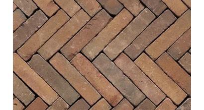 Клинкерная тротуарная брусчатка ручной формовки Penter Varia puur wasserstrich tumbled 200х50х85 мм, фото номер 1