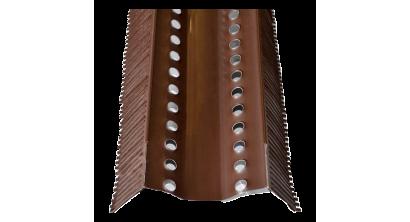 Аэроэлемент конька BRAAS AFE коричневый, 1000 мм, фото номер 1