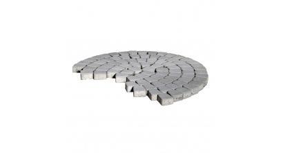 Тротуарная плитка BRAER Классико круговая серый, 73*110*115*60 мм, фото номер 1