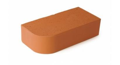 Кирпич керамический облицовочный полнотелый ЛСР красный R-60 угловой M250-500, 250*120*65 мм, фото номер 1