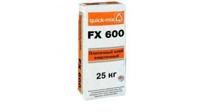 Эластичный плиточный клей quick-mix FX600, 25 кг, фото номер 1