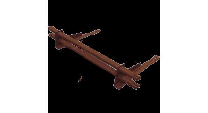Комплект трубчатого снегозадержания BORGE 1 м для черепичной кровли, шоколадно-коричневый, фото номер 1