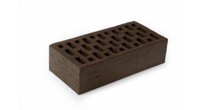 Кирпич керамический облицовочный пустотелый ЛСР Темно-коричневый рустик 250*120*65 мм, фото номер 1