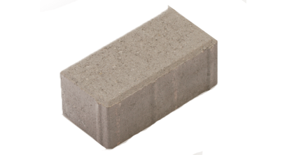 Тротуарная плитка МЕЛИКОН ПОЛАР Брусчатка 7П.6 серый, 197x97x60 мм, фото номер 1