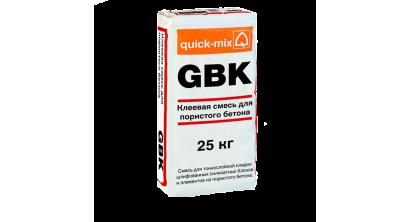 Клеевая смесь для пористого бетона quick-mix GBK, 25 кг, фото номер 1