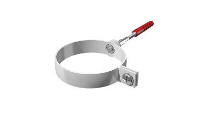 Хомут трубы металлический Verat белый, D 82 мм, L 140 мм, фото номер 1