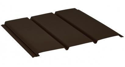 Софит без перфорации AQUASYSTEM темно-коричневый (RR32), 1,0*0,303 м, фото номер 1