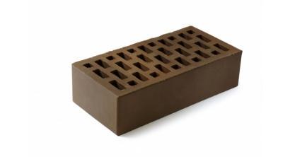 Кирпич керамический облицовочный пустотелый ЛСР Темно-коричневый гладкий 250*120*65 мм, фото номер 1