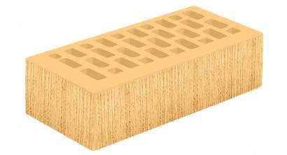 Кирпич керамический облицовочный пустотелый Голицынский КЗ Янтарь желтый береста 250*120*65 мм, фото номер 1