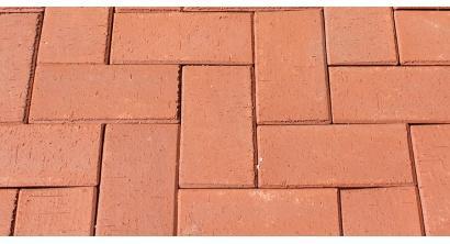 Брусчатка тротуарная клинкерная ЛСР (RAUF Design) Лондон красная, 200*100*50 мм, фото номер 1