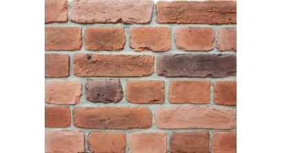 Искусственный камень Балтфасад Старый кирпич красно-коричневый 255×70, 120×70 мм, фото номер 1