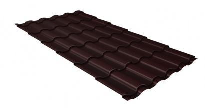 Металлочерепица Гранд Лайн (Grand Line) Kredo Velur20 0.5 RAL 8017 шоколад, фото номер 1