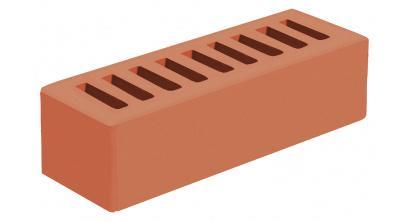 Кирпич керамический облицовочный пустотелый Голицынский КЗ Красный гладкий 250*85*65 мм, фото номер 1