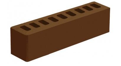 Кирпич керамический облицовочный пустотелый Голицынский КЗ Коричневый гладкий 250*60*65 мм, фото номер 1