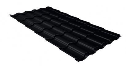 Металлочерепица Гранд Лайн (Grand Line) Kredo Velur20 0.5 RAL 9005 черный, фото номер 1