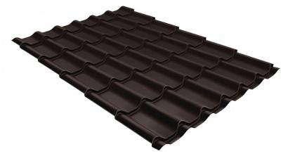 Металлочерепица Гранд Лайн (Grand Line) Classic PE 0.45 RAL 8017 шоколад, фото номер 1
