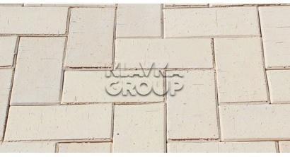 Брусчатка тротуарная клинкерная ЛСР Венеция белая, 200*100*50 мм, фото номер 1