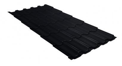 Металлочерепица Гранд Лайн (Grand Line) Kvinta Velur20 0.5 RAL 9005 черный, фото номер 1