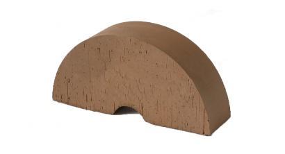 Кирпич керамический облицовочный фигурный полнотелый (радиальный) Lode Brunis гладкий 250*121*65 мм, фото номер 1