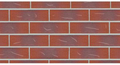 Фасадная плитка клинкерная DeKERAMIK DKK813-WS альмандин гладкая с царапиной, NF8, 240*71*8 мм, фото номер 1
