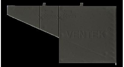 Вентиляционно-осушающая коробочка VENTEK универсальный формат, темно-серая, фото номер 1
