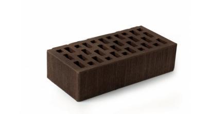 Кирпич керамический облицовочный пустотелый ЛСР Темно-коричневый тростник 250*120*65 мм, фото номер 1