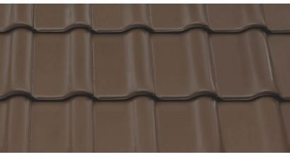 Керамическая рядовая черепица BRAAS Рубин 9V, темно-коричневый, ангоб, фото номер 1