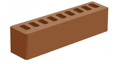 Кирпич керамический облицовочный пустотелый Голицынский КЗ Терракотовый гладкий 250*60*65 мм, фото номер 1