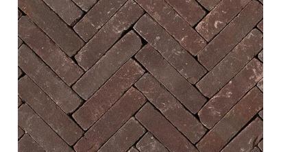 Клинкерная тротуарная брусчатка ручной формовки Penter Violetta tumbled, 200х50х85 мм, фото номер 1