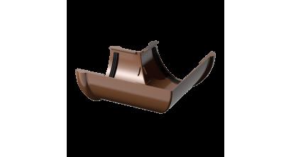 Угол желоба ТехноНИКОЛЬ (Verat) коричневый 90 град., D 125 мм, фото номер 1