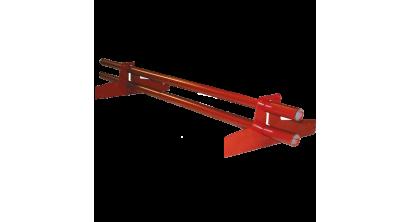 Комплект снегозадерживающих труб BRAAS красный, 2950 мм, фото номер 1