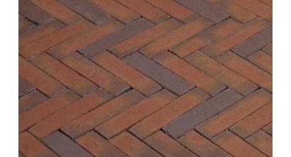 Клинкерная тротуарная брусчатка ручной формовки Penter Rosa wasserstrich 200х50х85 мм, фото номер 1