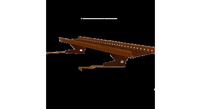 Переходной мостик BORGE RAL 8017 для черепичной и сланцевой кровли коричневый, 1,5 м, фото номер 1