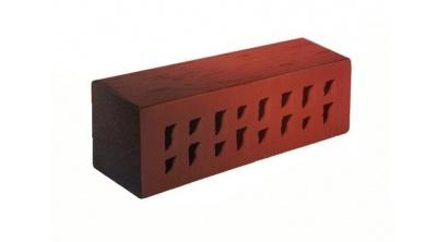 Кирпич клинкерный облицовочный пустотелый ЛСР Ноттингем красный флэшинг береста 250*85*65 мм, фото номер 1