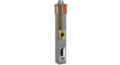 Комплект дымохода SCHIEDEL UNI одноходовой без вентканала 4 п.м, 32*32 см, D 14 см, фото номер 1