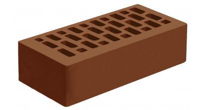 Кирпич керамический облицовочный пустотелый Голицынский КЗ Темно-терракотовый гладкий 250*120*65 мм, фото номер 1