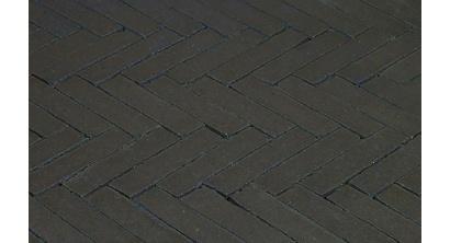 Клинкерная тротуарная брусчатка ручной формовки Penter Nero wasserstrich tumbledt, 200х50х85 мм, фото номер 1