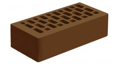 Кирпич керамический облицовочный пустотелый Голицынский КЗ Коричневый гладкий 250*120*65 мм, фото номер 1