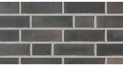 Фасадная плитка клинкерная Roben Chelsea Basalt-bunt рельефная NF14, 240*14*71 мм, фото номер 1