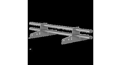Комплект трубчатого снегозадержания BORGE 3 м для металлочерепицы, профнастила и битумной кровли, цинк, фото номер 1