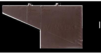 Вентиляционно-осушающая коробочка VENTEK универсальный формат, темно-коричневая, фото номер 1