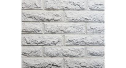 Искусственный камень Балтфасад кирпич Колотый белый 248х62 мм, фото номер 1