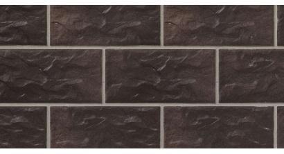 Цокольная плитка клинкерная Stroher Kerabig KS 15 chocolate brown рельефная, 302*148*12 мм, фото номер 1