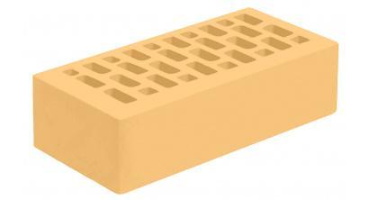 Кирпич керамический облицовочный пустотелый Голицынский КЗ Янтарь желтый гладкий 250*120*65 мм, фото номер 1