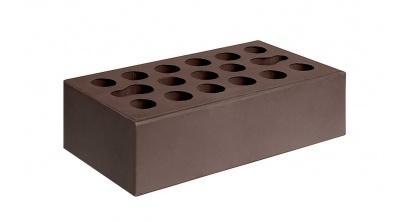 Кирпич керамический облицовочный пустотелый Керма Шоколад гладкий 250*120*65 мм, фото номер 1