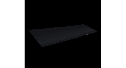 Ребристый желобок для обустройства ендовы LUXARD 1,6 м, черный, фото номер 1