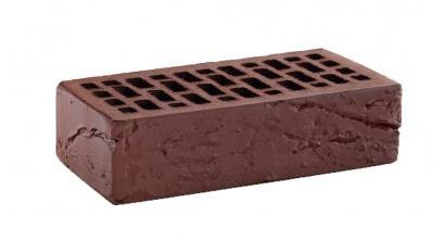 Кирпич керамический облицовочный пустотелый КС-керамик Темный шоколад кора дерева 250*120*65 мм, фото номер 1